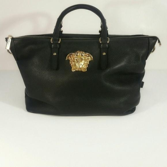 f5d1fe5f5a Authentic Gianni Versace Black and Gold Medusa. M 5bbfd4fa2e14786e41f0f539